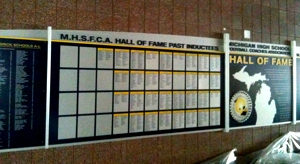 MHSFCA Wall of Fame at Michigan Stadium